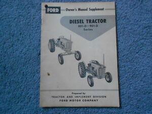 ford diesel tractor series     owners manual