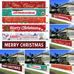 300cm Frohe Weihnachten Banner Outdoor Gartenfahnen Xmas Party Ornament Decor