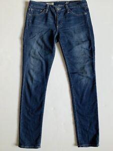 AG-Adriano-Goldschmied-Sz-28-Skinny-Jeans-Stilt-Cigarette-Dark-Wash-Stretch