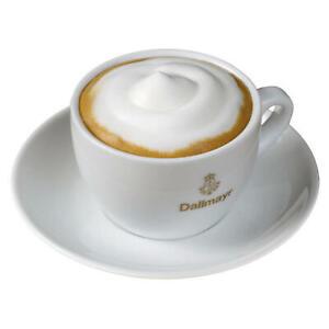DALLMAYR-Cappuccinotasse-Untertasse-mit-goldenem-Aufdruck-Tasse-Weiss-160-ml