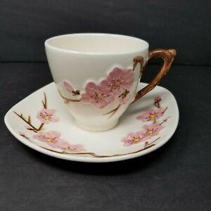 Vintage-50s-Metlox-Poppytrail-Pink-Peach-Blossom-Cup-amp-Saucer