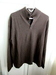 Men-039-s-034-Daniel-Bishop-034-100-Cashmere-Brown-Size-Medium-Sweater