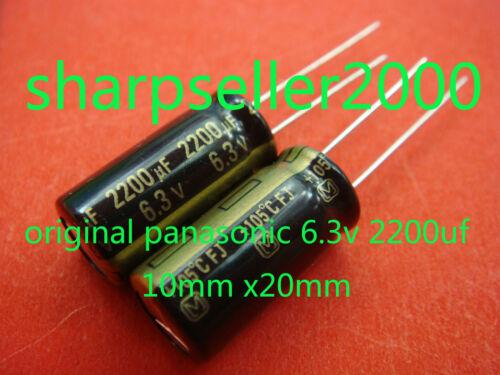 50pc Panasonic 6.3V 2200uF Motherboard Capacitor Japan New