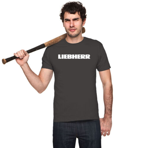 Details about  /LIEBHERR CONSTRUCTION GERMAIN LOGO men black t-shirt 100/% cotton short sleeve