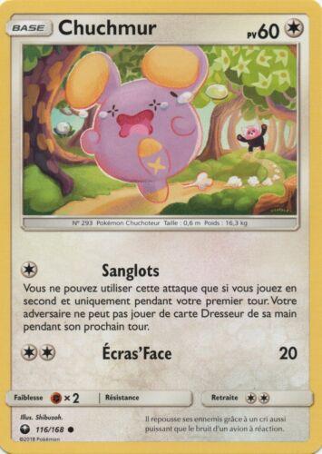 Chuchmur X1 VF Français Pokemon Reverse SL7-116//168/_R