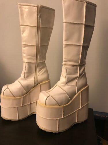 Demonia Platform Boots Size 6 White