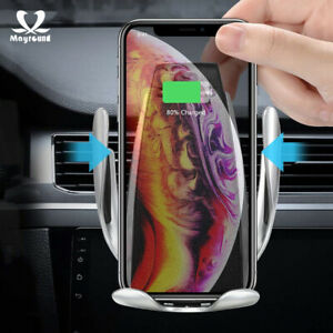 Automatic-Clamping-Wireless-10W-Car-Charger-Charging-Mount-Air-Vent-Phone-Holder