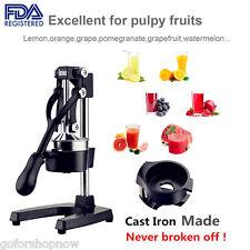 Hand Press Juicer Manual Fresh Fruit Juice Squeezer Orange Apple Pomegranate US