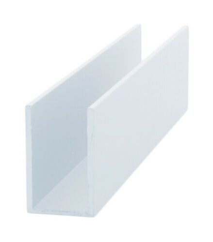 "CRL DV750BA Brite Anodized 1//2/"" Aluminum U-Channel 144/"" Stock Length"