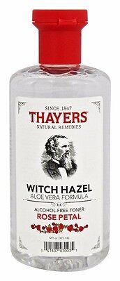 Thayers WITCH HAZEL w/ Aloe Vera Alcohol-Free Toner Skin Health 12 oz ROSE PETAL