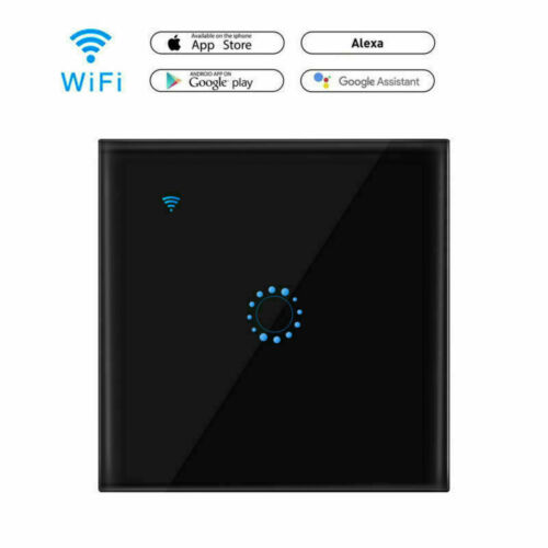 Kabellos 1 2 3-fach Smart WiFi Panel Touch-Schalter Wandfernbedienung EU//UK