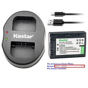 Kastar-Battery-Dual-Charger-for-Sony-NP-FH50-NPFH50-FH50-amp-Sony-SLT-A35-HXR-MC1