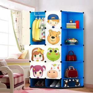 Kids-Wardrobe-Childrens-Storage-Boxes-Character-Design-Cube-Shoes-Corner-Storage