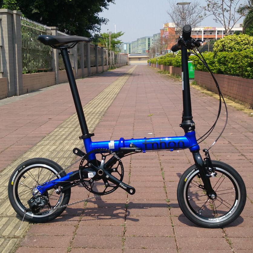 Fnhon Ant Alloy Folding Bike 14  Mini velo Urban Commuter V Brake 3 Speed