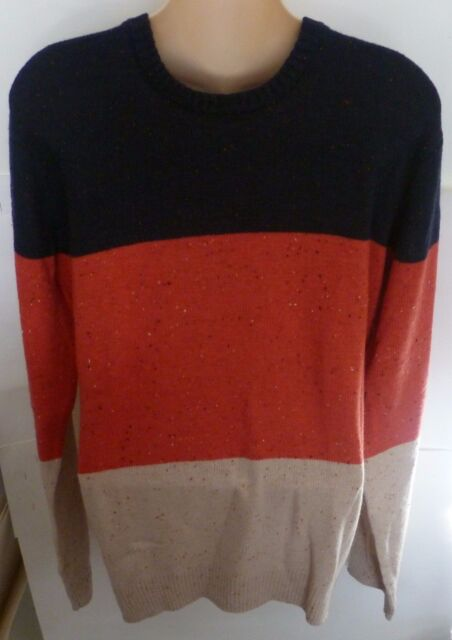 Mens AEROPOSTALE Colorblocked Crew Neck Crewneck Sweater size M NWT #4344