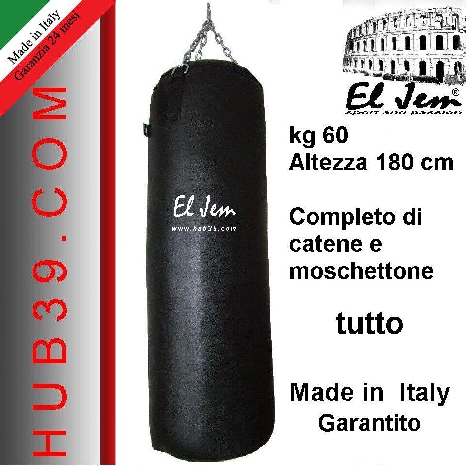 Sacco Pugilato Sacco scatolae    kg 60 fatto in  EL JEM  CM.205 e10