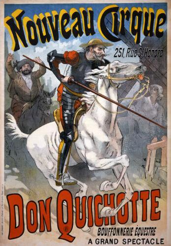 AV67 Vintage Don Quichotte Quixote Horse Circus Advertisement Poster A1//A2//A3