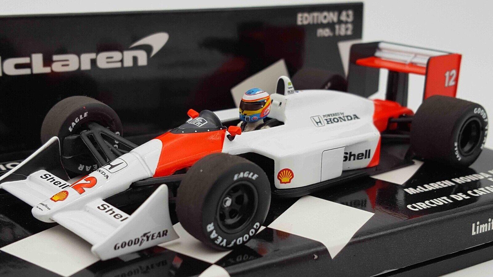 Minichamps 530884314 143 McLaren MP4 4 Fernando Alonso Circuit deCatalunya Model