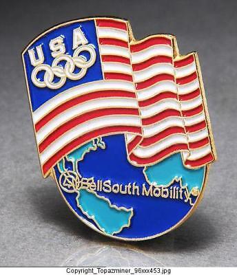 Olympic Park AT/&T USA Olympia Atlanta 1996 Lapel Pin Button Badge Anstecknadel