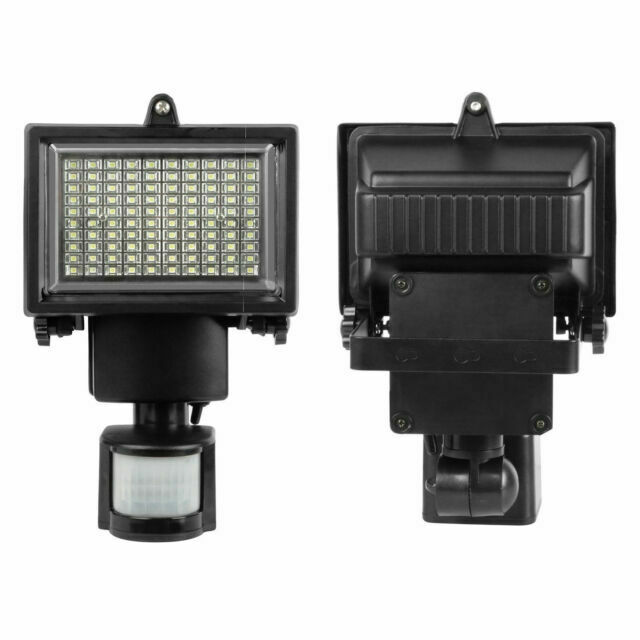 100 LED Bright Solar Powered PIR Sensor Flood Security Light Wall Outdoor  CN