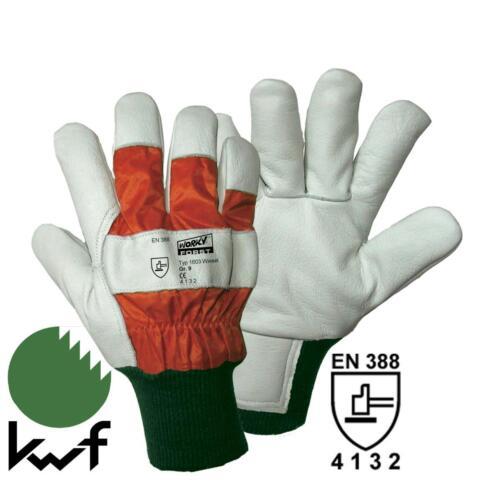 Cubierta forestal guantes de protección mano de trabajo zapatos talla 9 corte guantes de protección