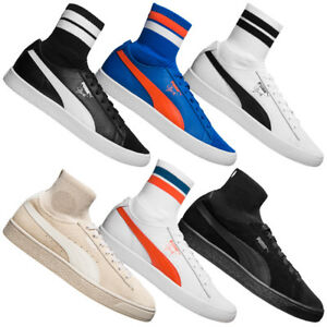 70259b6bd3 Das Bild wird geladen PUMA-Classic-NYC-Herren-Socken-Sneaker -Freizeit-Schuhe-