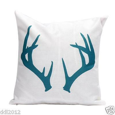 Christmas Home Decor Cotton Linen Throw Pillow Case Elk Sofa Waist Cushion Cover
