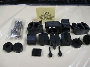 1966-67 66 67 CUTLASS RUBBER BUMPER KIT