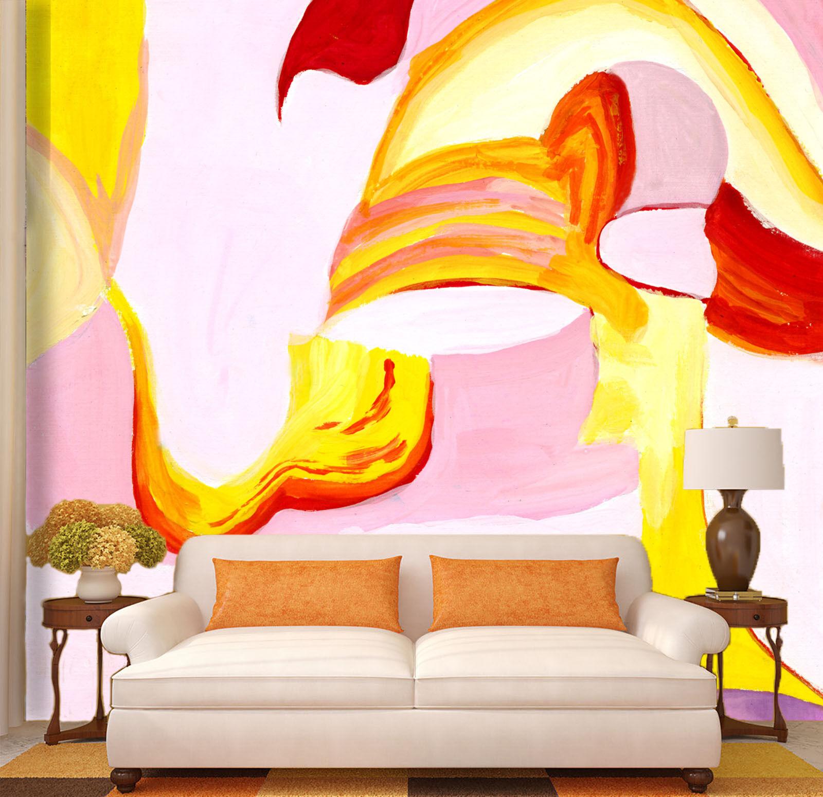 Mega Modern Abstract Painting 417 Wall Paper Wall Print Decal Wall AJ Wall Paper