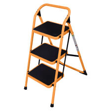 Portable 3 Step Ladder Folding Non Slip Safety Tread Industrial Home Use 330lbs