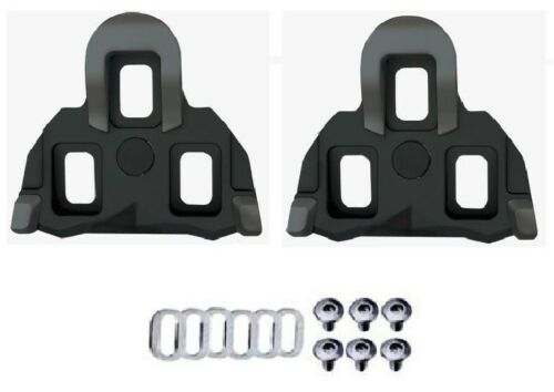 Exustar BSL11 SPD-SL 0d BLACK Road Bike Cleats with Rubber Inserts Fit Shimano