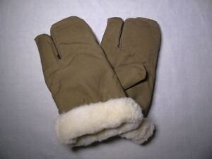 Original Soviet Russian Army wool  military winter gloves