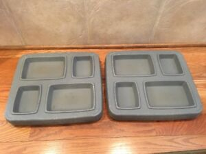 Details about 2 Prison Jail Cafeteria Lunch Divided Food Tray Molded  Plastic Plastocon DHT-4