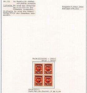 Memel-Nr-131-Studie-auf-5-Albenseiten-in-Einheiten-mit-Plattenfehlern-C0192