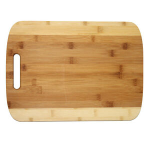 large two tone bamboo cutting board by 11 5 and 3 4 perfect gift 782789429936 ebay. Black Bedroom Furniture Sets. Home Design Ideas