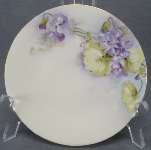 Set of 3 Tressemann & Vogt Hand Painted Floral Bread Plates Circa 1892 1907