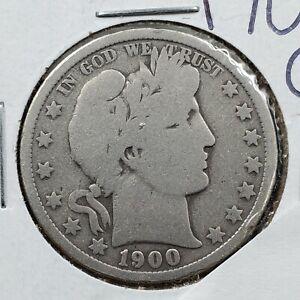 1900 O Barber Silver Half Dollar Coin Average VG Very Good Circulated New Orlean