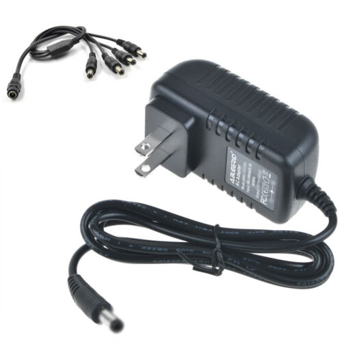12V DC 2A 4 Splitter AC Adapter For CCTV Security Camera DSC-SWP2A-12 Power Cord