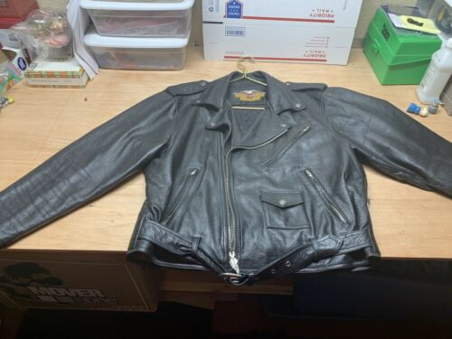 Vintage 1970s Harley Davidson Leather Riding Jacke