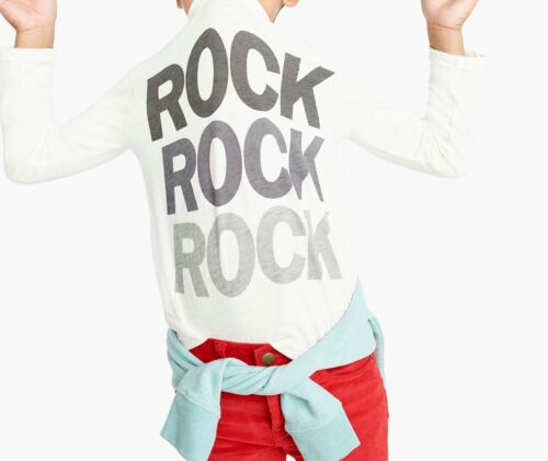 NWT J Crew kids unisex boys or girls Rock t-shirt long sleeve 6-7//12//8//10