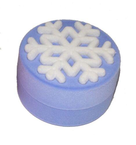 6pcs Snow Flake Blue Luxury Velvet Necklace Pendant Jewelry Gift Box