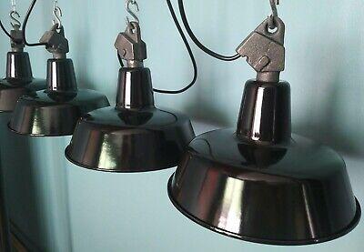 BAUHAUS  INDUSTRIELAMPE FABRIKLAMPE Schirm EMAILLE LAMPE