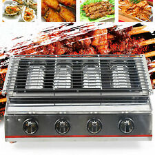Tabletop Barbecue Gas Grill Stove Stainless Steel Griddle Bbq Patio Camping