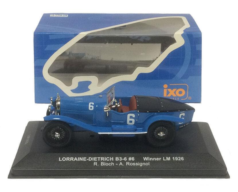 Ixo Lm1926 Lorraine-Dietrich B 3-6   6 vainqueur du Mans 1926 -, échelle 1 43,
