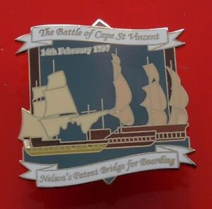 Danbury-Mint-British-Victory-Pin-Badge-Battle-of-Cape-St-Vincent-Nelson-Navy