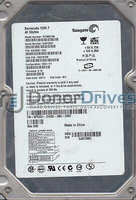 FW 8.16 ST340014A PN 9W2005-033 AMK 3JX Seagate 40GB IDE 3.5 Hard Drive