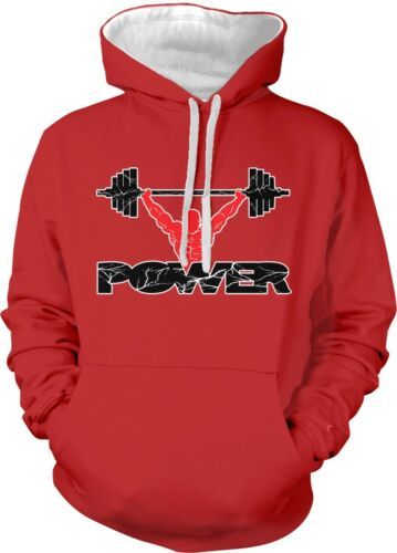 Power Lifter Snatch Clean And Jerk Workout WOD Lifting 2-tone Hoodie Pullover