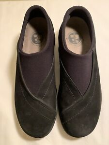MERRELL Size 10 Topo Curve Black Slip On Stretch Casual Loafer Shoes. Pre-owned