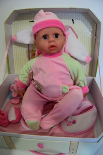 "18"" BEDTIME DREAM BABY BOY DOLL 45CM SAMMAR GIFTS GIFT BOXED + X2 CLOTHES SETS"