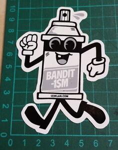 BANDIT1SM-STICKER-123-Klan-Bandit1-M-10x7cm-STREET-ART-PEGATINA-DECAL-GRAFFITI
